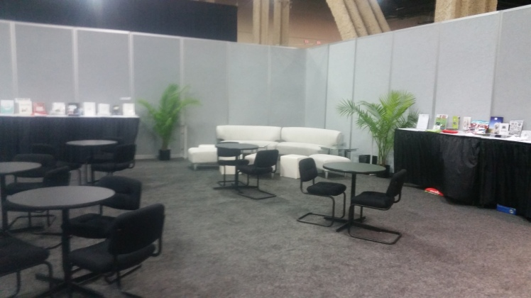 This is where I will be interviewing company reps. How exciting!