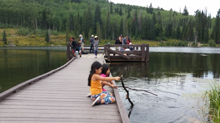 Ava & Annabelle looking for some fish :-)