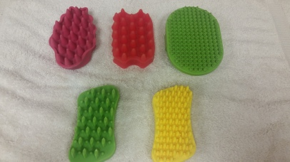 Rubber/Silicone brushes are great to use on short to medium coats, and during the bath.