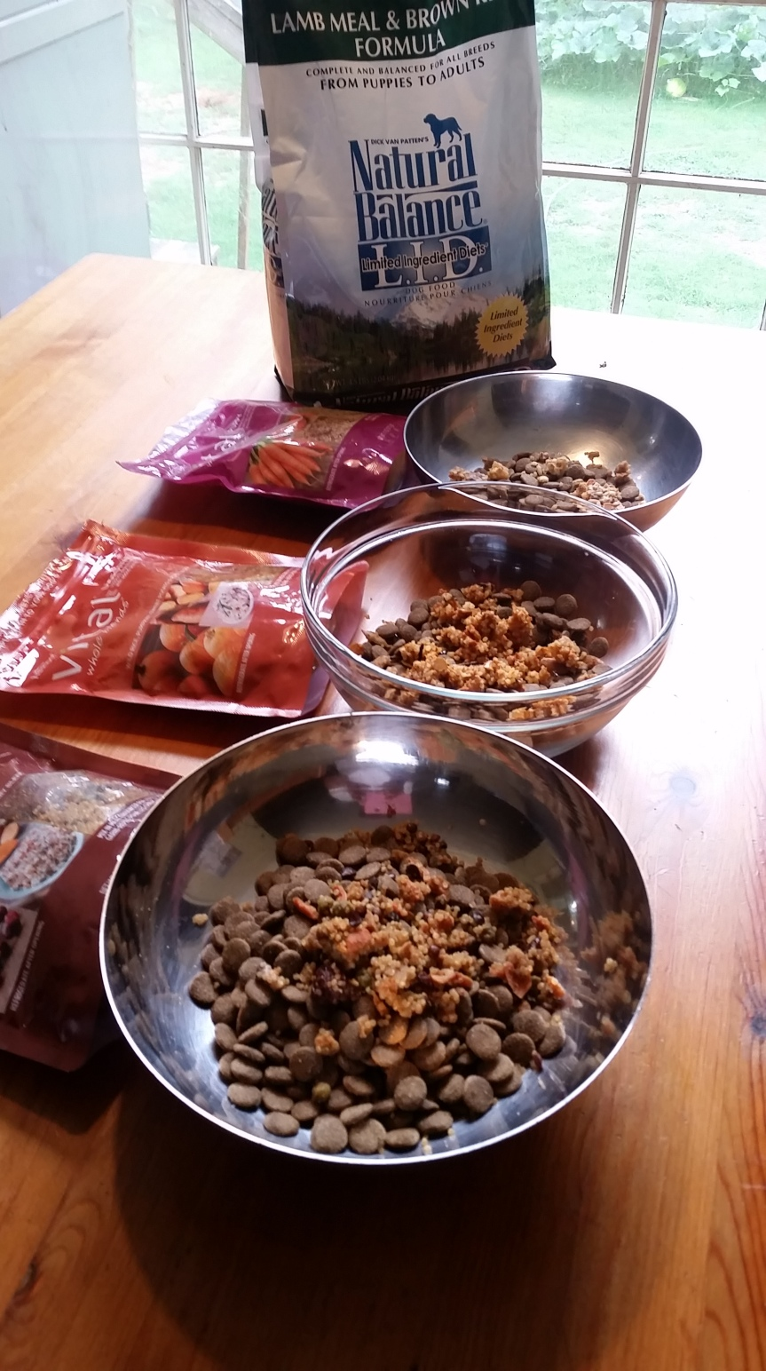 Diet Plan for my Pack – Natural Balance LID & FreshPet Vital Whole Blends!